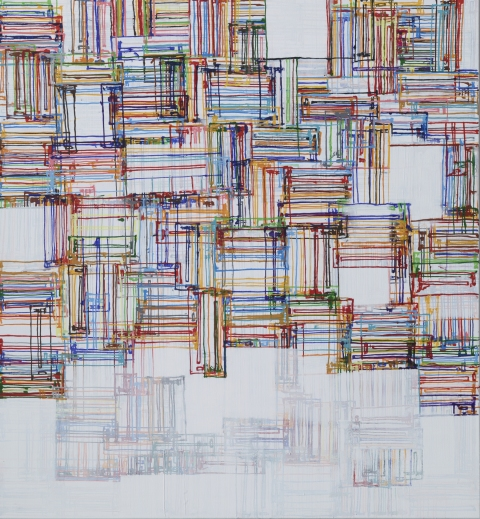 Coray Acryl auf Leinwand 128 x 120 cm
