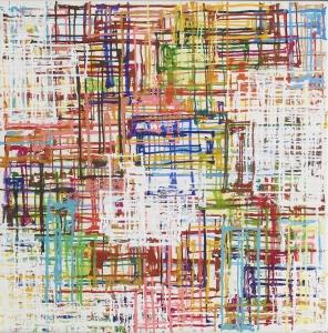 Lucia Coray Acryl auf Leinwand 52 x52 cm